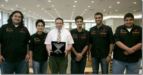 From the left: Abdullah, Salman, Dr. Amir Zeid, Ahmad, Abdelwahab and Ali